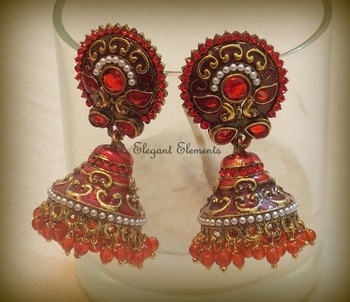 Festival dhamaaka, royal look rajwadi collection jhumki