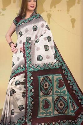 Sarees Mal Mal Cotton Designer Prints With Blouse Piece D.No D1005