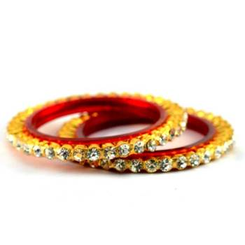 gold platted stone bangles size-2.2,2.4,2.6,2.8
