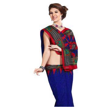 Hypnotex Bhagalpuri Blue Color Designer Saree Fig2312B