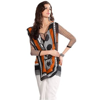 Hypnotex Bhagalpuri Off White Color Designer Saree Fig2330B