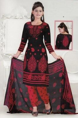 Dress Material Crepe Designer Prints Unstitched Salwar Kameez Suit D.No SJ1214