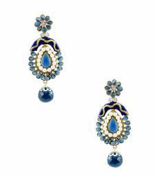 Buy Navy Blue Antique Victorian Dangle and Drop Earrings Jewellery for Women - Orniza Earring online