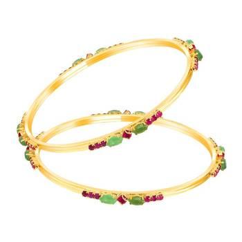 Mahi Gold Plated Imperishable Beauty Bangles