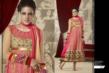 floor length baby pink anarkali
