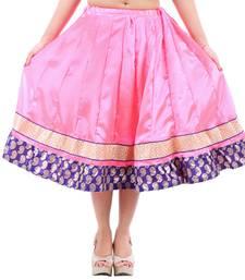 Buy Rajasthani Designer Satin Short Lehanga skirt online