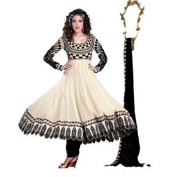 Hypnotex Georgette Off White Color Designer Dress Material Krishna2003