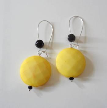 coins long drop earring-yellow