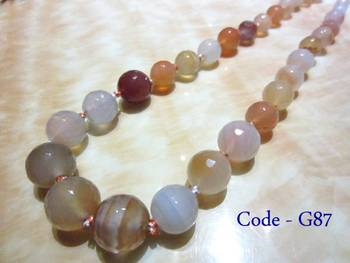 Multicolor Onyx Semi Precious Necklace