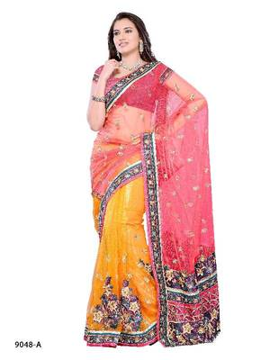 Captivating festival wear saree in two tone fabric pattern by DIVA FASHION- Surat
