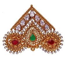 Buy Heer&Sahib elegant & rare Handcrafted Wedding Turban Crystal stone Kalgi men-festive-wear online