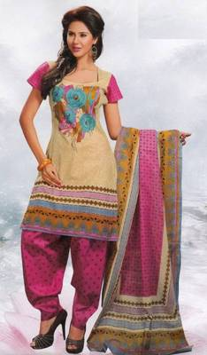 Cotton Dress Material Elegant Designer Unstitched Salwar Suit D.No 8403