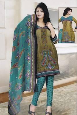 Dress Material Crepe Designer Printed Unstitched Salwar Kameez suit d.no 13015