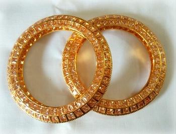Ethnic FINE CZ GOLD PLATED bangle