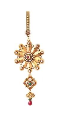Multicolour traditional sari chhalla/waist key chain