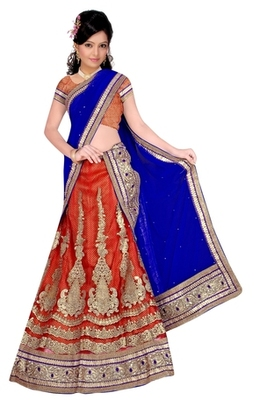 red Indian Traditional Designer lehenga.