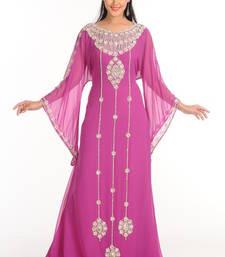 Buy Lavender arabian islamic jalabiya crystal-abaya online
