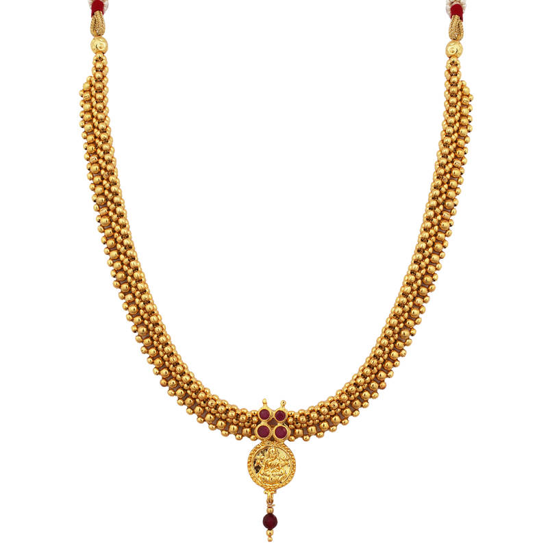 Buy Gold Plated Ruby Kanthi Mala Online