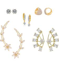 Buy Combo of White Earrings combo-earring online