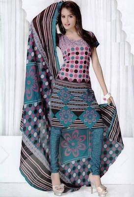 Elegant Spun Cotton Designer Unstitched Salwar Suit D.No 3089