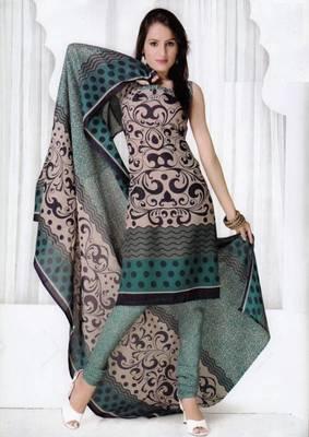 Elegant Spun Cotton Designer Unstitched Salwar Suit D.No 3093