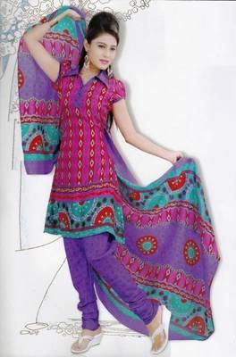 Elegant Dress Material Jute Cotton Designer Prints Unstitched Salwar Kameez Suit D.No 6202