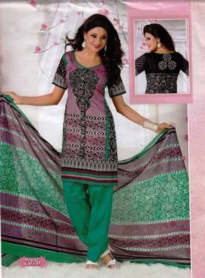 Elegant Dress Material Cotton Designer Prints Unstitched Salwar Kameez Suit D.No BN7026