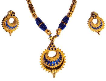 Indian Assamese Jewellery Keru Blue