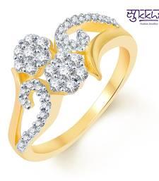 Buy Sukkhi Delightful Two Tone CZ Ring Ring online