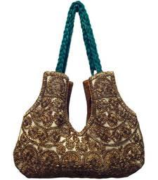Buy Valvet with Lace work handbag online