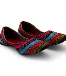 Buy multicolor Synthetic Leather party wear traditional footwear for women eid-footwear online