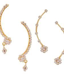 Buy White Combo of 2 Cuff Earrings combo-earring online