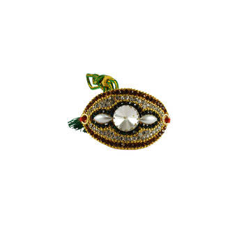 Traditional Stone Work and gold platted Bajuband
