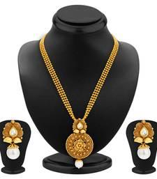 Buy Graceful Gold Plated Kundan Necklace Set For Women necklace-set online