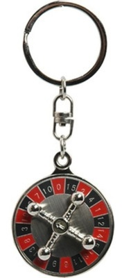 SuperDeals 360 Degree Rotating Casino Roulette Wheel Game Key Chain