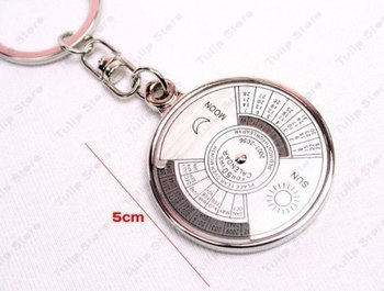 SuperDeals Compass Date Perpetual with Calendar up-to 50 Years Key Chain