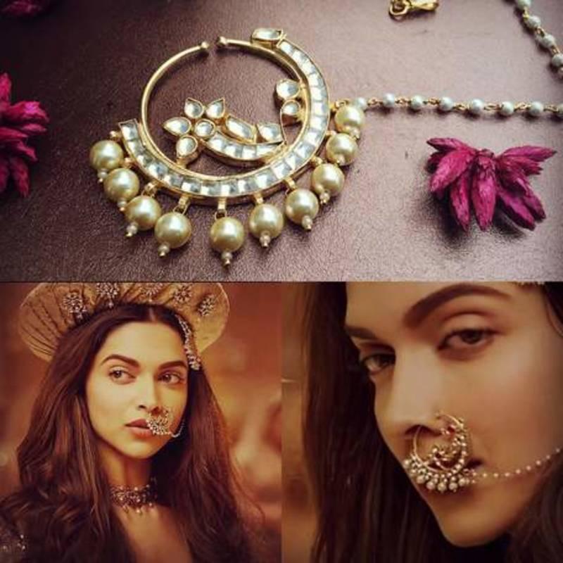Buy Deepika Inspired Kundan Nath Online