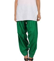 Buy Bottle Green Pure Cotton Semi Patiala Bottoms patialas-pant online