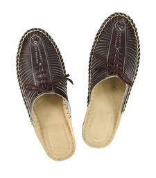 Buy eKolhapuri Attractive Brown Color Kolhapuri Half Bantu Leather Shoe For Men eid-footwear online