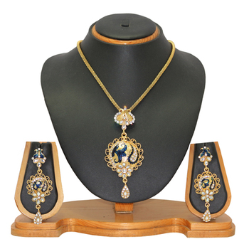 Jewellery Indian Diamond Jewellery Pendant Set