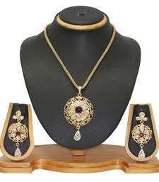 Buy Jewellery Designer Alloy Pendant Set Jewellery Pendant online