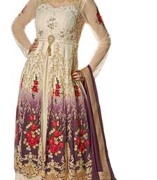 Buy multicolor georgette embroidered semi stitched salwar with dupatta wedding-salwar-kameez online