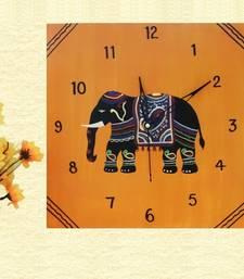 Buy Wooden Wall Clock - Elephant wall-clock online