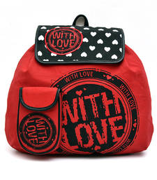 Buy Red love Canvas Back Pack backpack online
