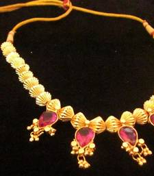Buy Yellow gold plated necklaces Necklace online