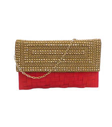 Buy Alluring Matted Clutch (Red) clutch online