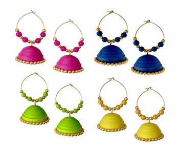 Multicolor Paper danglers-drops