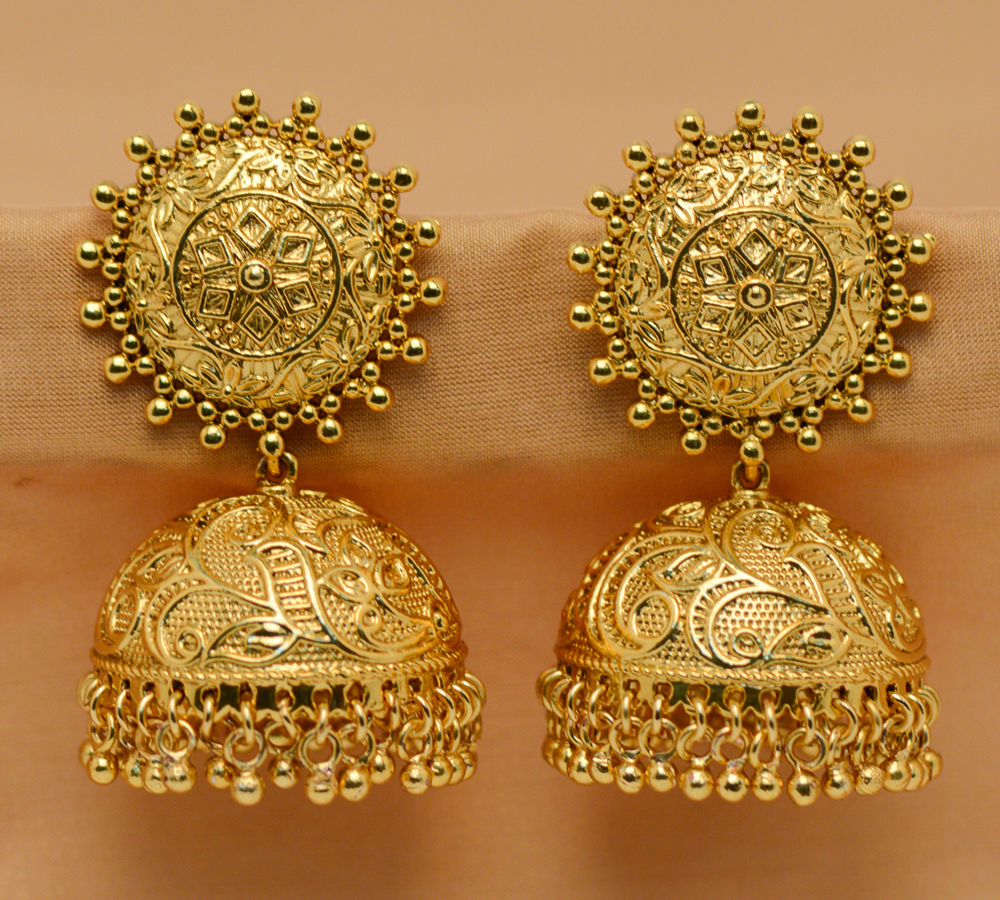 Buy Gold gold plated jhumkas Online