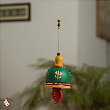 Beautiful green handpainted bell