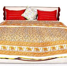 Buy Yellow printed cotton quilts quilt online
